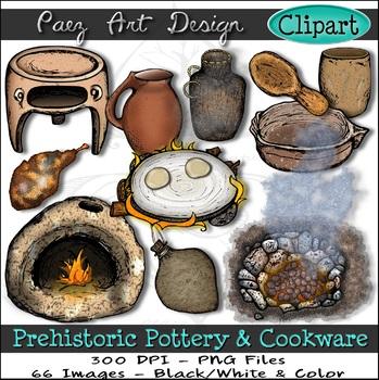 Prehistoric Pottery & Cooking CLIPART {Paez Art Design}