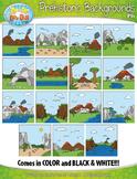 Prehistoric Background Scenes Clipart {Zip-A-Dee-Doo-Dah Designs}