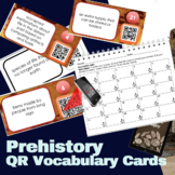 Prehistory (Ancient Civilizations) Vocabulary QR Code Cards