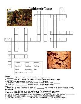 Prehistoric Times Crossword