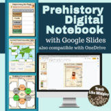 Prehistory Digital Interactive Notebook Activities