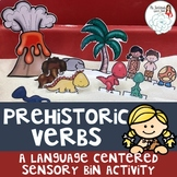 Prehistoric Verbs: A Dinosaur Sensory Bin Activity