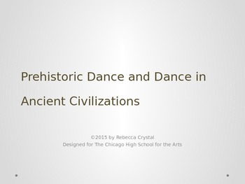 Prehistoric and Ancient Dance