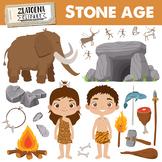 Prehistoric clipart / Caveman clip art / Stone age graphics
