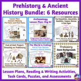Prehistory, Ancient & World History BUNDLE: Tests, Activities & a Project