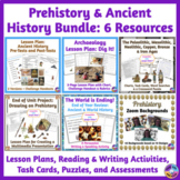 Prehistory & Ancient History BUNDLE: Lesson Plans, Tests, Activities & a Project