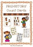 Prehistory Count Cards / Conteo cartas Prehistoria