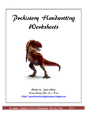 Prehistory Cursive Handwriting Worksheets