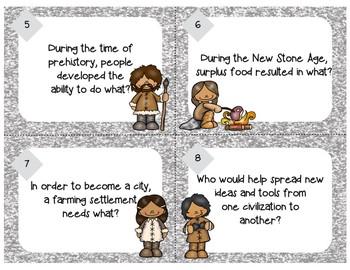 Prehistory Task Cards