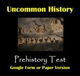 Prehistory Test: Paleolithic vs Neolithic Life - Paper or