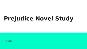 Prejudice Novel Study Pre-Reading Activities