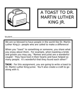 Prejudice- What the Bible Says!  Martin Luther King Jr. Activity Packet