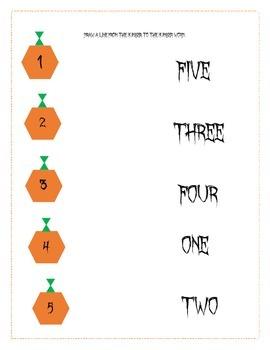 Prek-1st Grade fall Math Activities