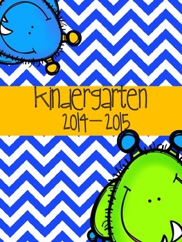 Prek-6th Teacher Orginizational Binder: Little Monsters
