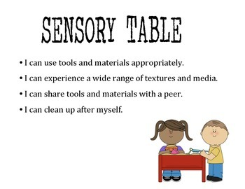 Prek Center Signs- Includes I Can... Statements