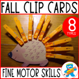 Prek Clip cards. Autumn edition. Fun Fine Motor Skills Practice