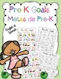 Prek Goals/ Metas de Prek - English and Spanish