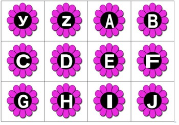 Letter identification and Letter Sound Recognition with Spring Flowers