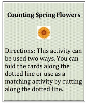 Number Recognition and Counting with Spring Flowers