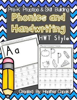 Prek-K Handwriting and Phonics Skill Building {HWT Style}