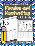 Prek-K Handwriting and Phonics Skill Building {HWT Style}