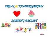 Prek/ Kindergarten Sorting Packet