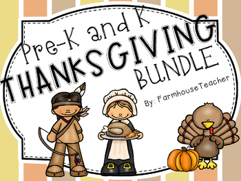 Prek-Kindergarten Thanksgiving Pack