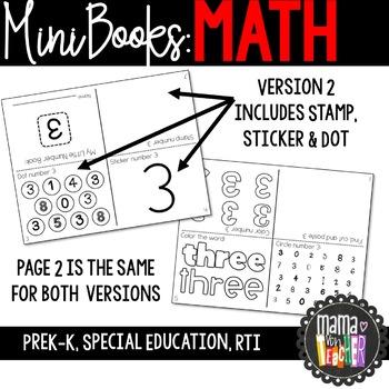 Little Number Books: Mini Books 0-20 {Prek-K, Special Ed., RTI}