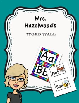 Prek Word Wall Letters & Pictures