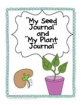 Prek/K Seed Journal & Plant Journal by The Urban Ms ...