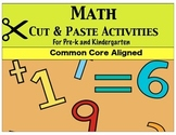 Prek/Kinder Math Cut & Paste Activities
