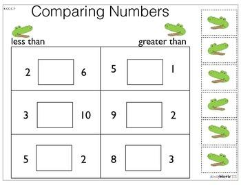 Prek/Kinder Math Cut & Paste Activities