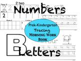 Prek/Kindergarten Tracing Workbook: Letters and Numbers
