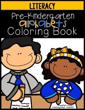 Prekindergarten Alphabet Coloring Book