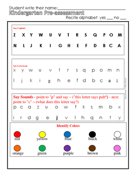 Prekindergarten Assessment