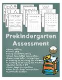 Pre Kindergarten Assessment- Black and White Version (Updated)- No Prep!