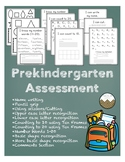 Pre Kindergarten Assessment- Black and White Version (Upda