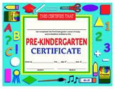 Prekindergarten Certificate of Achievement Printable