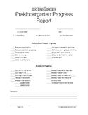 Prekindergarten Progress Report