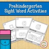 Prekindergarten Sight Word Activities | Fine Motor Skills
