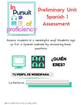 Preliminary Unit Spanish Assessment (preguntas basicas)