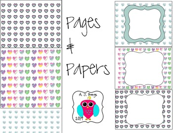 Premade Heart Pages and Papers