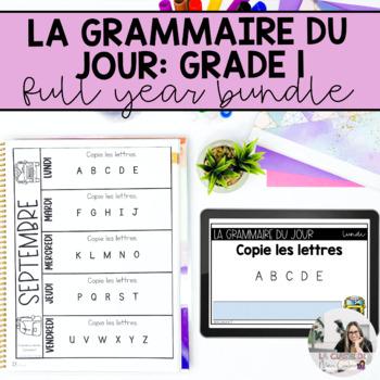 Première année: la correction du jour (French writing mini-activities)
