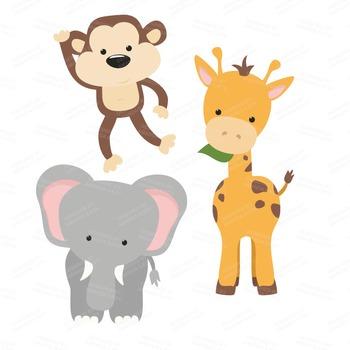 Premium African Safari Animals Clip Art & Vectors - Safari Animals Clipart