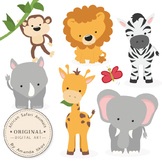 Premium African Safari Animals Clip Art & Vectors - Safari