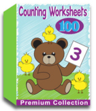 Counting Worksheets for Kindergarten (100 Worksheets)
