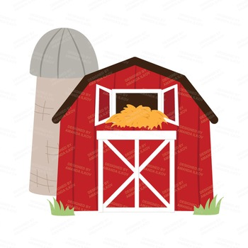 premium farm animals clip art vectors farm animals clipart barn rh teacherspayteachers com clip art barnyard animals clip art banner