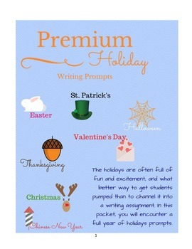 Premium Holiday Writing Prompts