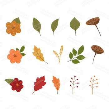 Premium Large Autumn Harvest Wreath Clip Art - 12 Inch Autumn Wreath Clipart