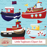 Premium Nautical Tugboat Clipart - Digital Scrapbooks, Tug
